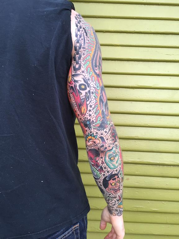 Traditional Tattoo Sleeve Filler: TYSON ARNDT