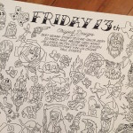 Friday the 13th Tattoo Flash
