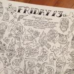 Friday the 13th Tattoo Flash