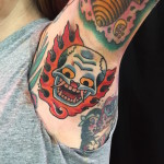 Traditional Skull Tattoo